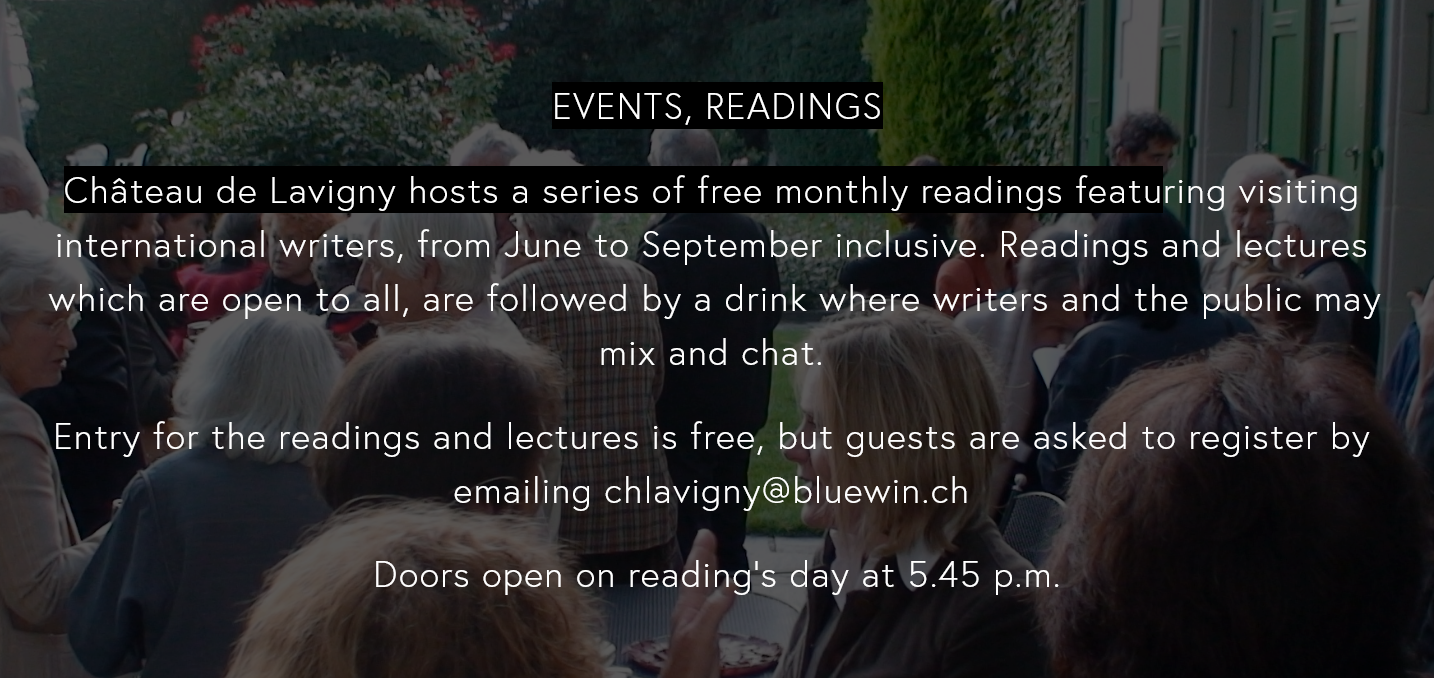 Events and Readings at Chateau de Lavigny